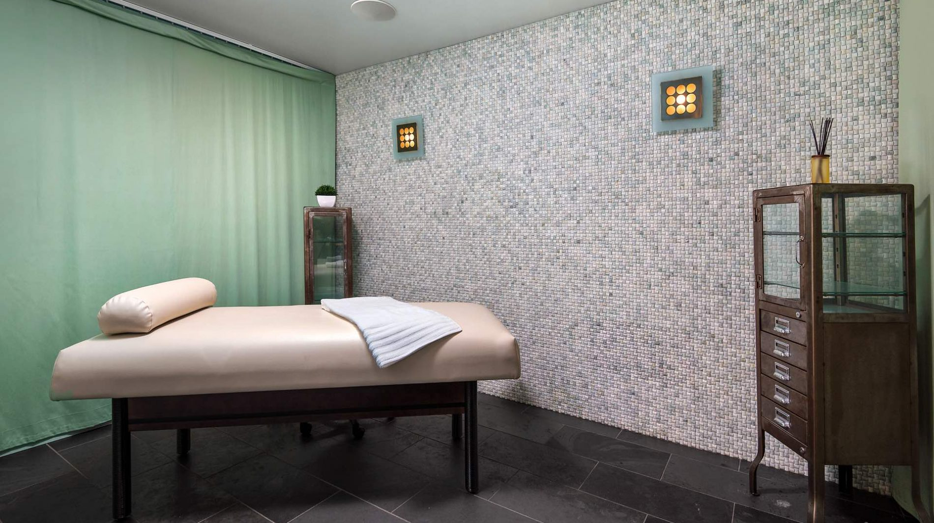 Recharge in our thoughfully-designed spa amenity spaces, including a private massage room.
